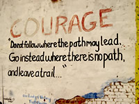 Choosing courage in fearful times