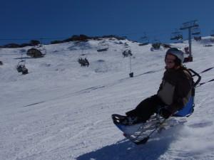 paraplegic skiing