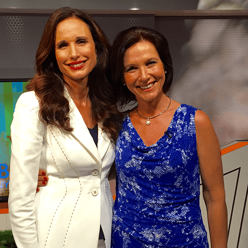 The gorgeous Andie MacDowell