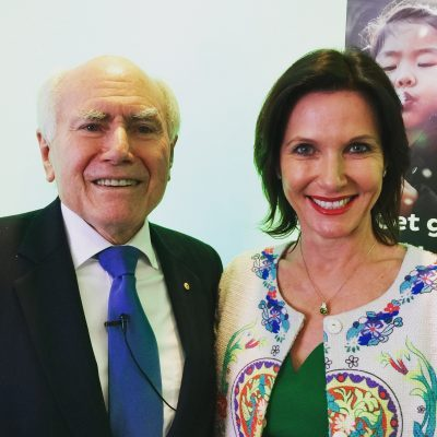 Sharing the stage with Former Prime Minister John Howard